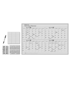 Magna Visual MagnaLite Planning Board Kit - 3' x 4' - 120 Day Planner