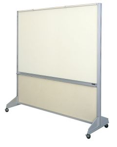 1602 Room Divider LCS both sides - Fabricork Kick Panel - Magnetic Surface