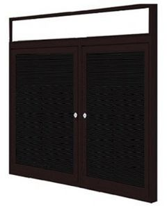 2-Door Bronze Aluminum Frame w/ Illuminated Headliner Enclosed Flannel Letterboard
