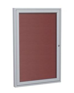 Satin Aluminum Frame Enclosed Vinyl Letterboard - UPS