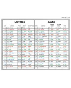 Real Estate Listing & Sales Board 36 x 48