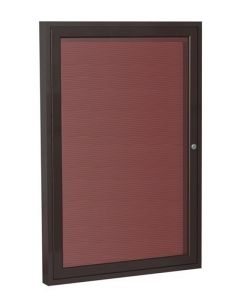1-Door Bronze Aluminum Frame Enclosed Vinyl Letterboard - UPS