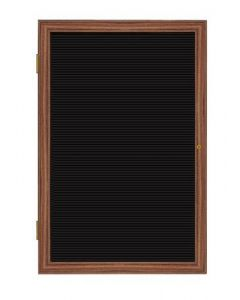 Wood Frame Cherry Finish Enclosed Flannel Letterboard - UPS