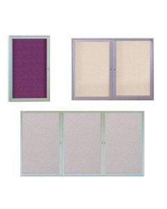 Ghent Enclosed Fabric Bulletin Board - Satin Aluminum