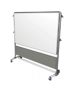 "Nexus IdeaWall - Double-Sided Mobile Porcelain Magnetic Whiteboard - 76⅛"" x 76⅜"""