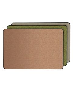 Gemini Natural Cork Tackboard, with a Hint of Color w/ Black Vinyl Frame