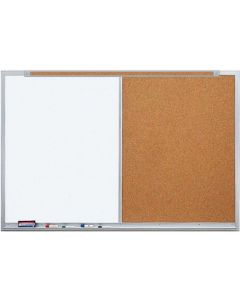 Claridge Products Combination White LCS/Tan Cork with Aluminum Frame - LCS5XXX
