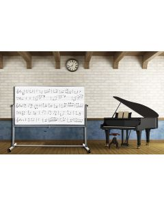Luxor 72 x 48 Mobile Double Sided Music Whiteboard