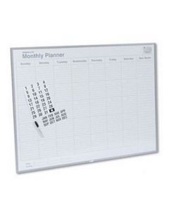 Magna Visual MagnaLite Planning Board Kit - 3' x 4' - Monthly Planner