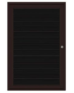 1-Door Bronze Aluminum Frame Enclosed Flannel Letterboard