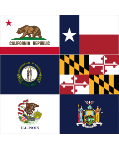 Individual State Flags