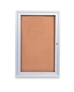 United Visual Single Door Indoor Enclosed Corkboards