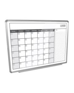"WB4836CAL Luxor Furniture 48""W x 36""H Magnetic Dry-Erase Monthly Calendar"
