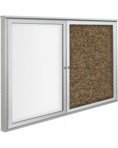 "Best-Rite Weather Sentinel - 36"" x 48"" - Rubber-Tak/Porcelain Steel - 2 Doors with Side Hinge"